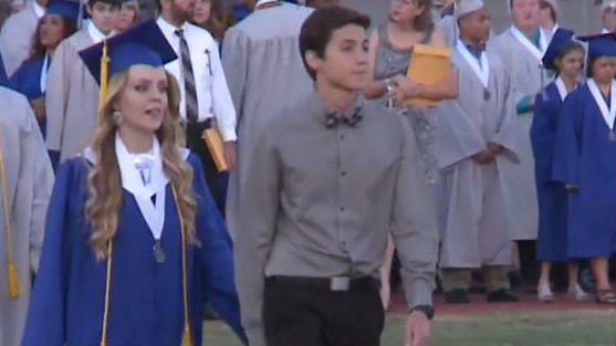 Stephen Dwyer at his class graduation. Photo: NBC