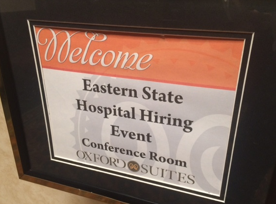 At the Oxford Suites Thursday, Eastern State Hospital hosted its fourth job fair since January.