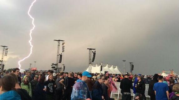 Lightning at Rock am Ring. Photo: jesroq/Instagram