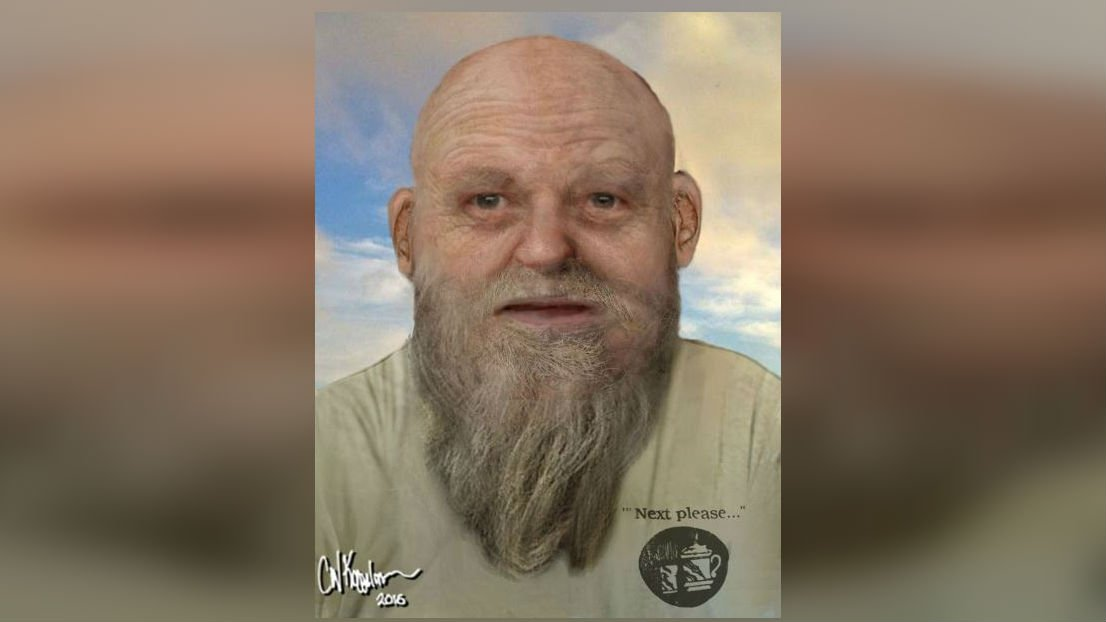 An artist's rendering of what the man looks like