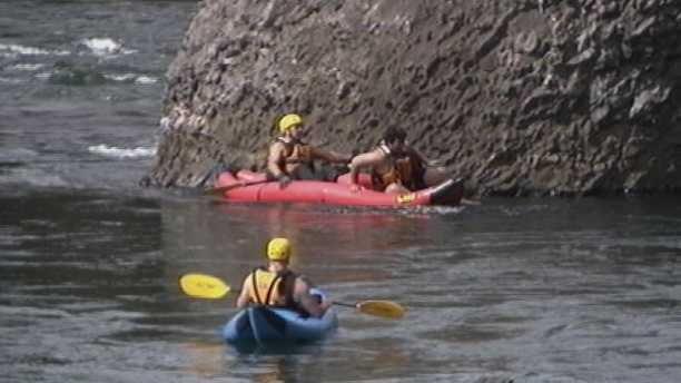 Man in emergency crew boat