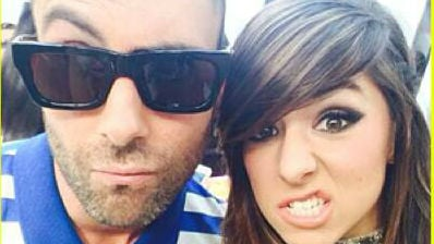 Adam Levine and Christina Grimmie. Photo: Maroon 5/Twitter