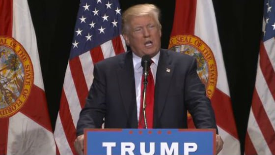 Donald Trump speaks at a rally in Florida Saturday. Photo: NBC