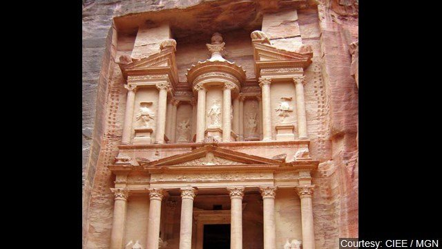 A U.S. archaeologist says satellite and drone images have led to a new discovery in the ancient city of Petra - a massive platform hidden under sand.