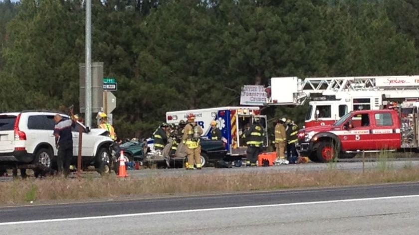 The scene of the crash Wednesday.