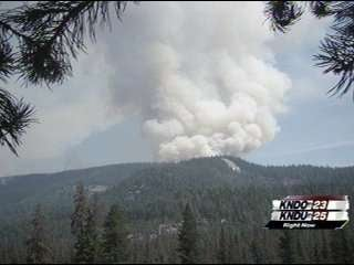 The Discovery fire has burned more than 2,200 acres (above and below)