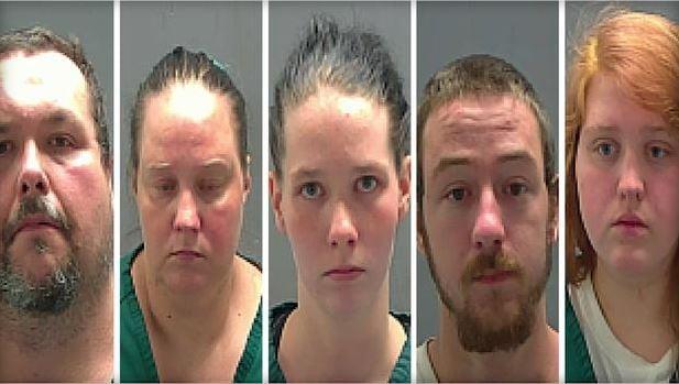 The five suspects (PHOTO:  TANGIPAHOA PARISH SHERIFF'S OFFICE)