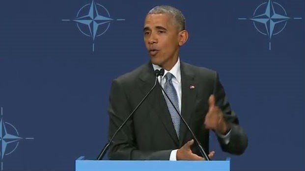 President Obama spoke at a press conference in Warsaw, Poland on Saturday. Photo: White House/YouTube