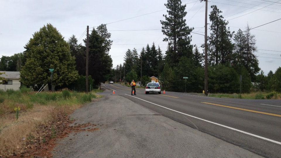 The scene of a fatal crash in West Spokane County.