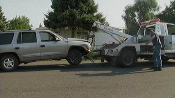 Silver SUV driven by the suspect