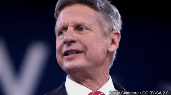 Libertarian party nominee Gary Johnson