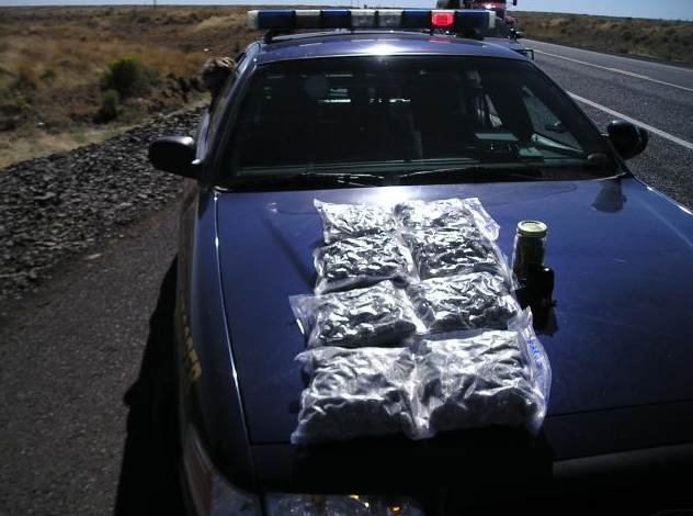 Shupe was found in possession of more than four pounds of marijuana (Photo Courtesy: Oregon State Police)