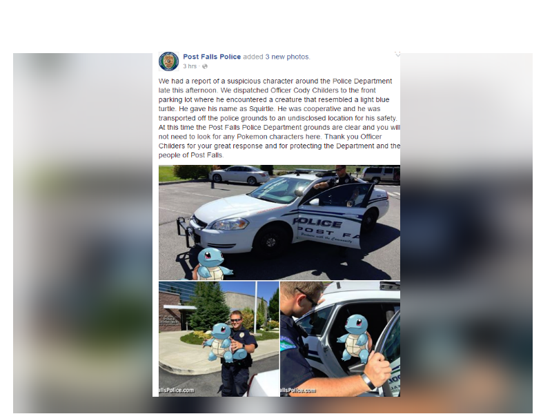 Post: Post Falls Police Department Facebook