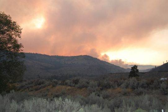 This picture, sent in by a viewer, was taken from the Omak/Okanogan side of the fire
