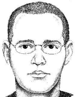 Police are still searching for a 'person of interest' shown here in an artist's rendition