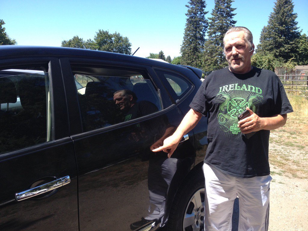 Jeff Collins drives a lot in Spokane Valley for Uber and also to deliver papers.