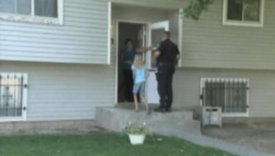 Police return 10-year-old girl Shania Sebastian to her home after she spent the night in a barn