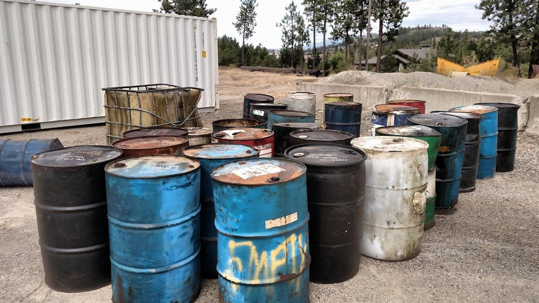 The abandoned barrel was found on private property near Market Street and Peone Creek.