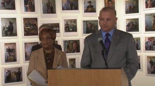 NAACP Spokane President V. Anne Smith and City Council President Joe Shogun