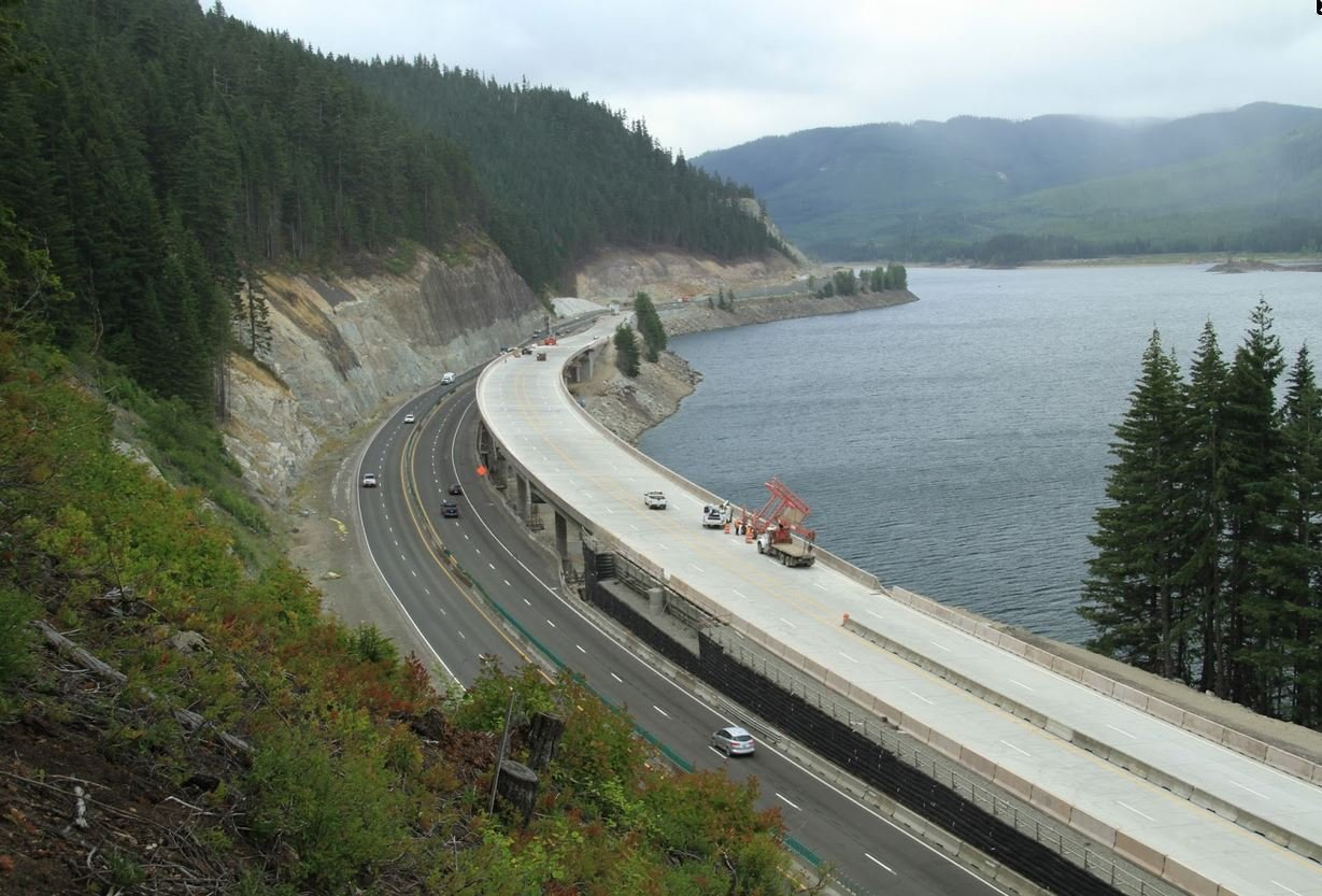 On Tuesday, Aug. 9, traffic across Snoqualmie Pass will shift onto a new avalanche bridge