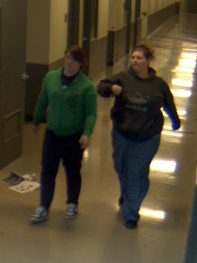 Jenalee Hall and Miranda Watson were caught on school security video at West Valley High School