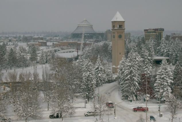 Remember this? Spokane was covered in snow just before Christmas last year