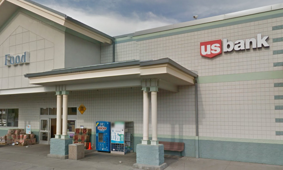 A screenshot from Google Maps shows the outside of the north Spokane US Bank branch.