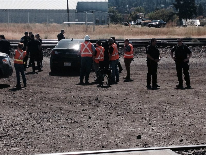 Man Cave Store Spokane : Oil train protesters standing on spokane tracks arrested