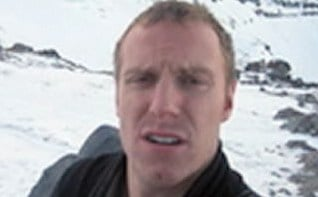 Searchers found 26-year-old Luke Gullberg's body on Saturday while searching an area in the 9,000 foot level called Reid Glacier.