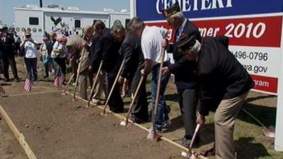 Groundbreaking at the cemetery (May 2009)