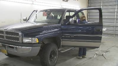 The truck was recovered and taken to the Spokane County Sheriff's processing station to be combed over for evidence