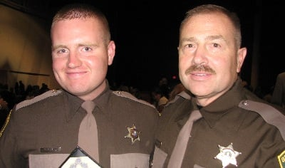 Deputy John Bernard with his son Brandon who is also a also a Grant County sheriff's deputy