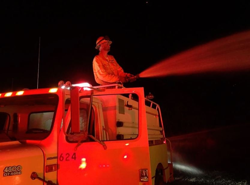 This photo was taken by Dean Thompson, a firefighter with Hartline District 6 Fire Department.