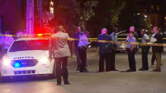 The scene of the shooting Friday night. Photo: NBC