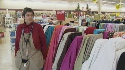 Kathy Ball, store manager of Hancock Fabrics