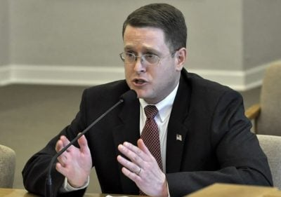 Rep. Matt Shea, R-Spokane Valley speaks in favor of House Bill 2717 (Photo: Washington State House of Representatives)