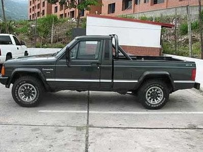 Authorities say the suspect vehicle is similar to the Jeep pickup truck pictured above