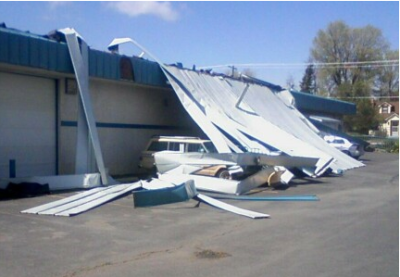 Roof collapse in Spokane Valley; Hometown Siding