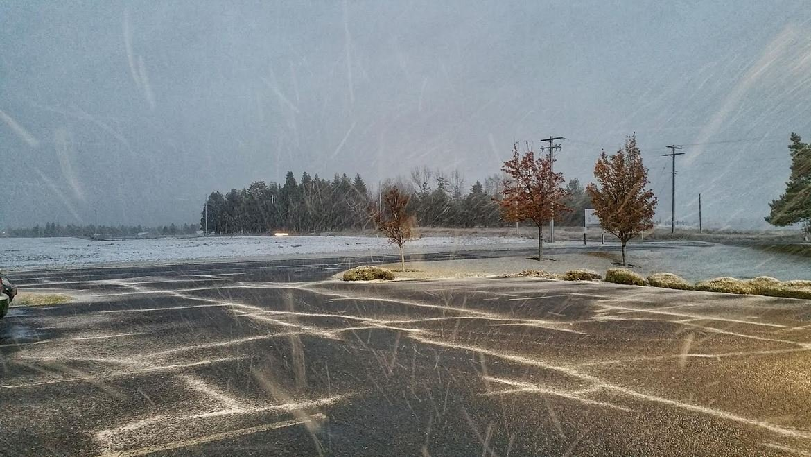 First snowfall at National Weather Service for the 2016 winter season