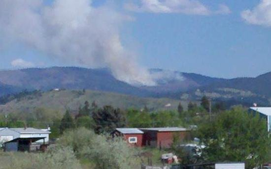 Controlled Burn (courtesy: Kevin Randall, KHQ Reporter)