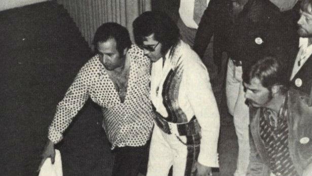 Joe Esposito with Elvis Presley in the 1970s.