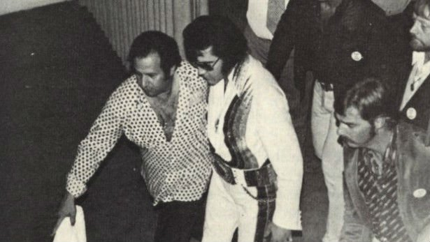 Joe Esposito with Elvis Presley in the 1970s.