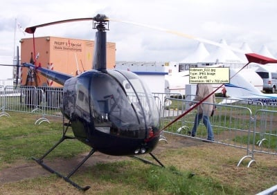 File Photo of a Robinson R-22, the type of helicopter that crashed near Felts Field