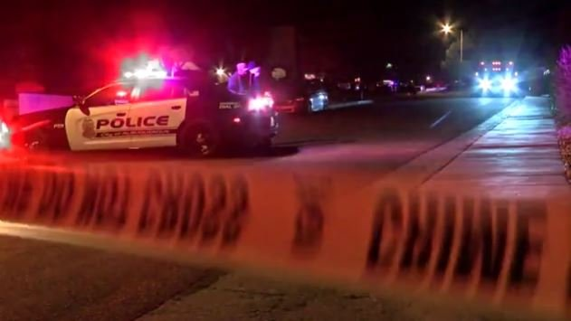 Three children were killed and their mother is in critical condition after a gunman shot them when they arrived home Monday night.