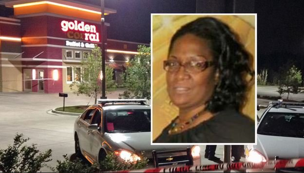 56-year-old Carol Demmons, was doused with lighter fluid and ignited with a lighter by her boyfriend while she was working at the Golden Corral in Jacksonville, Florida.