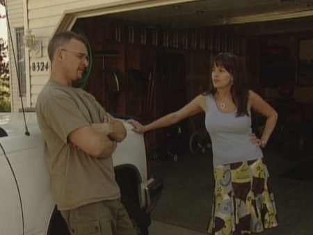 (Photo of Jan DeMeerleer & Rebecca Schiering in a 2007 KHQ interview about ATV thefts)