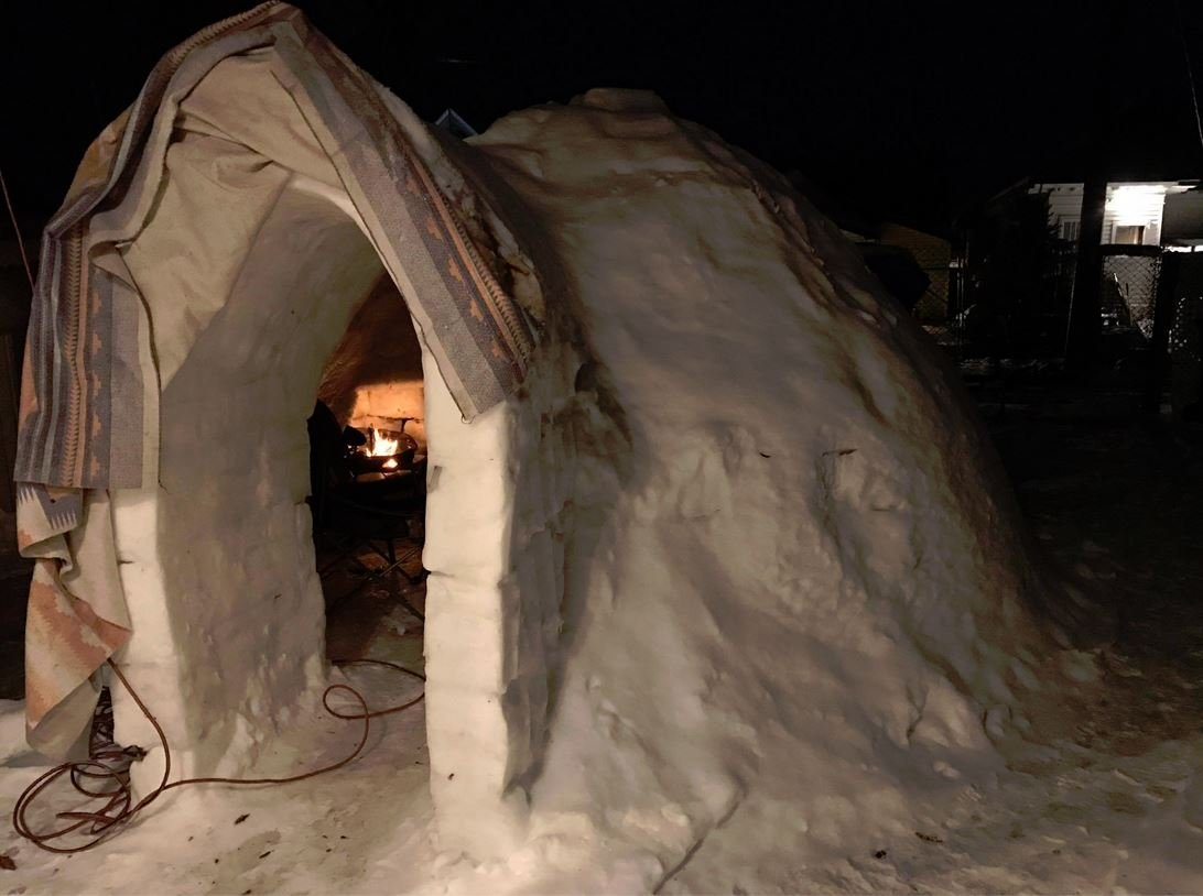 Holy WOW! Spokane brothers build legit igloo with fireplace ...