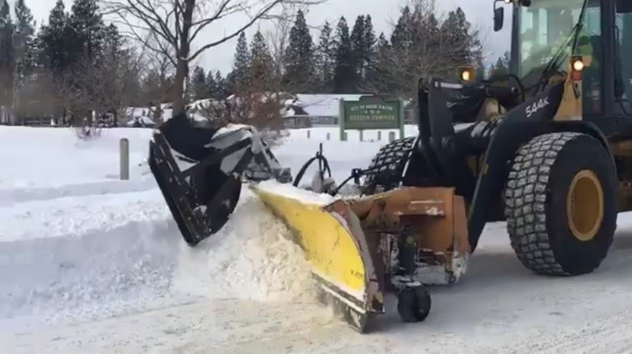 The city of Coeur D'Alene is busy prepping for possible flooding! They are clearing the snow out of the way for drains.