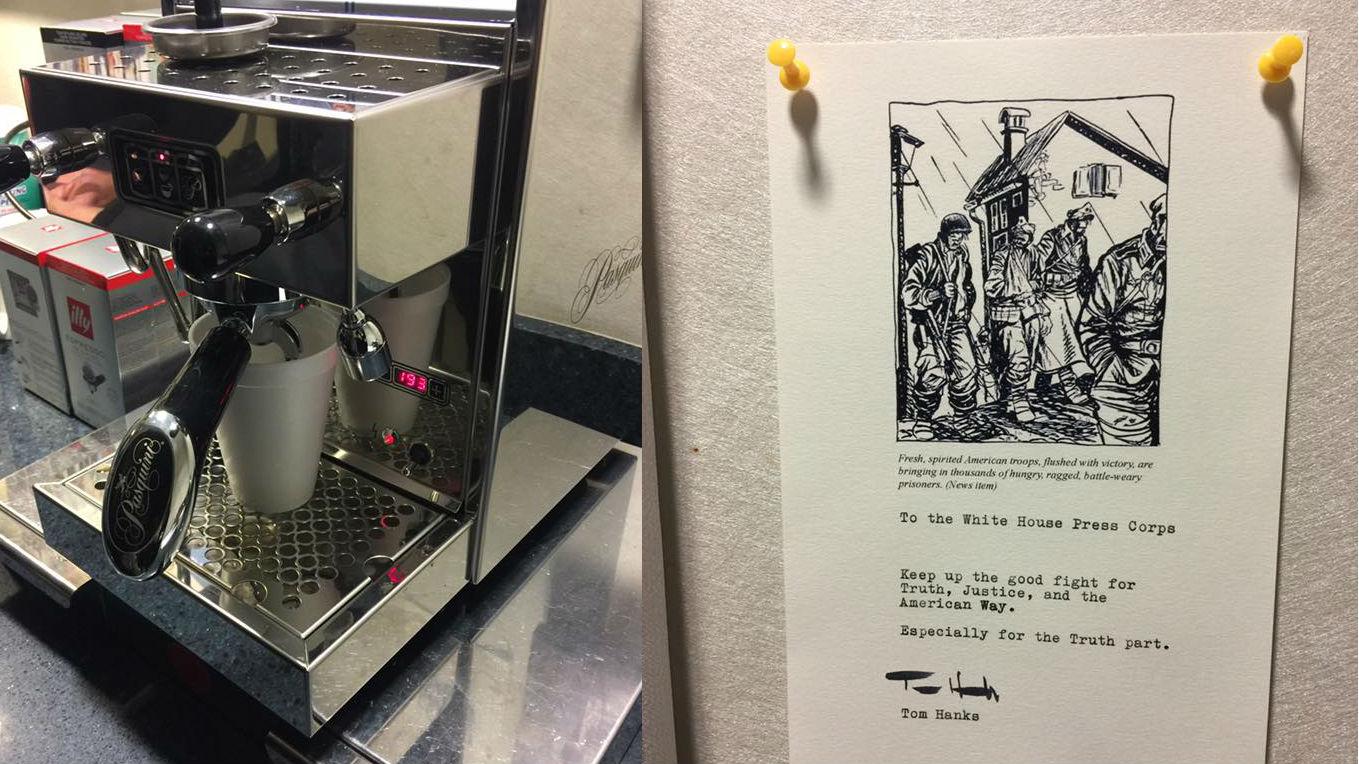 tom hanks espresso machine