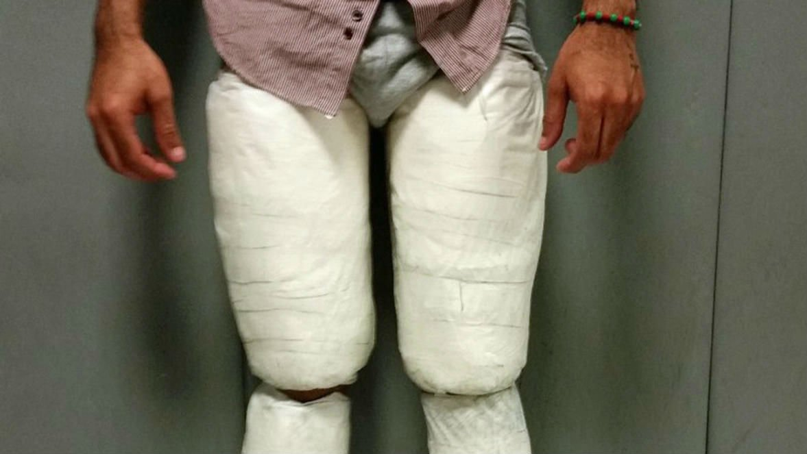 Juan Carlos Galan Luperon was arrested after allegedly being found with 10 lbs. of cocaine. (U.S. CUSTOMS AND BORDER PROTECTION)
